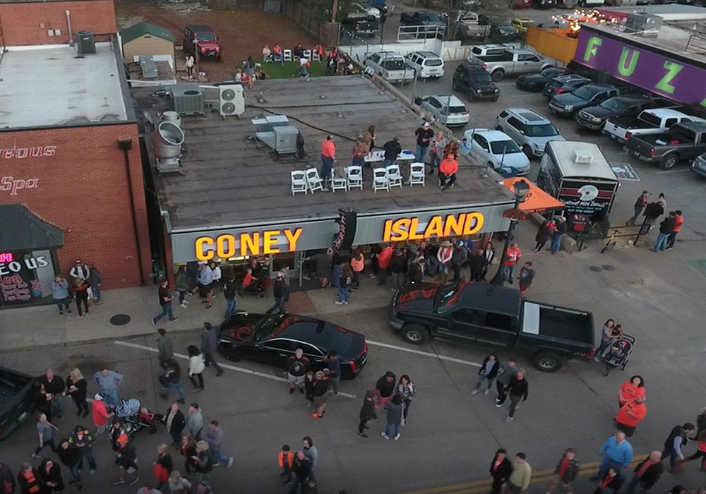 cheeseburger at Coney Island in Stillwater, OK